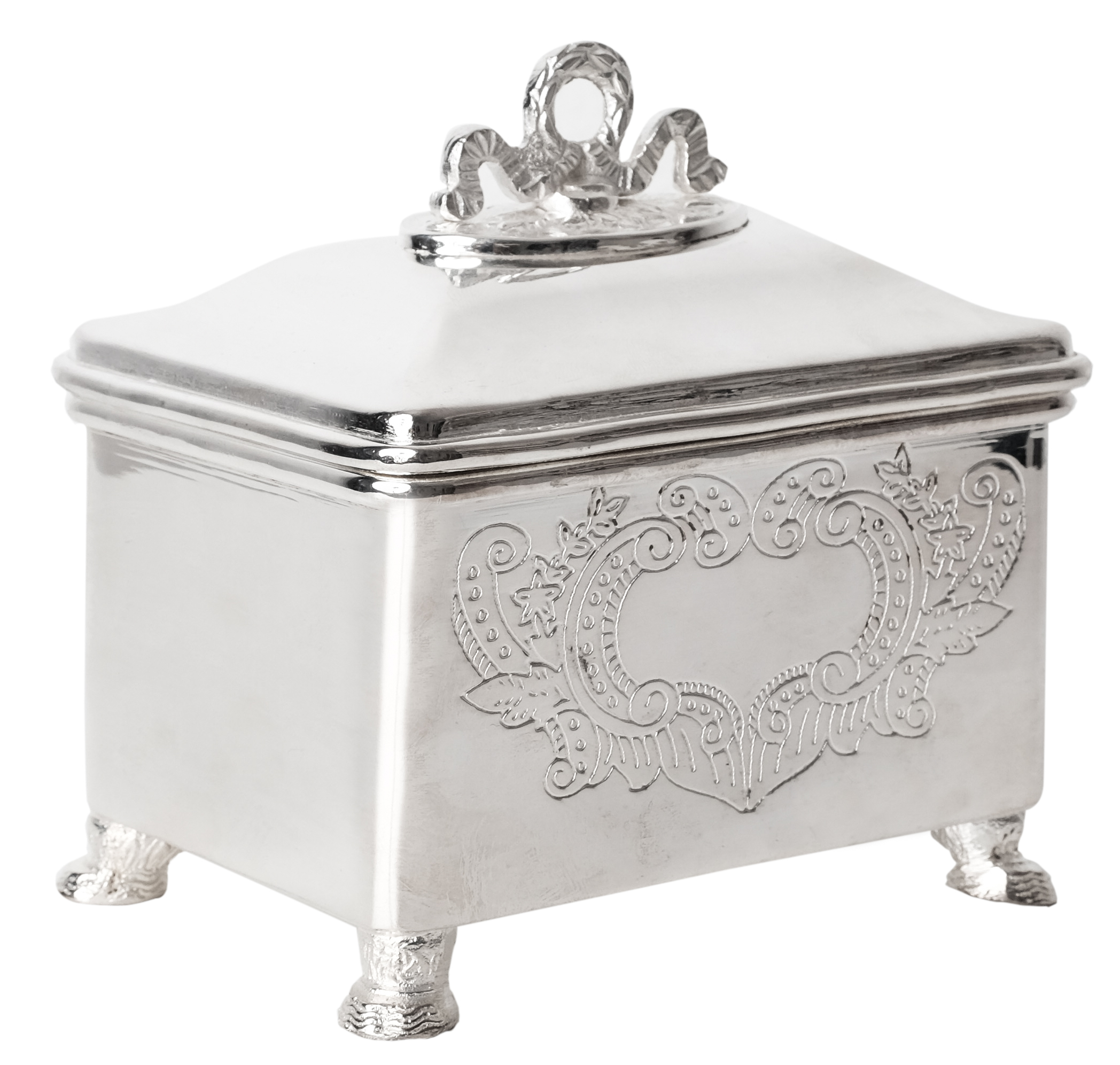 Beautiful silver bow box