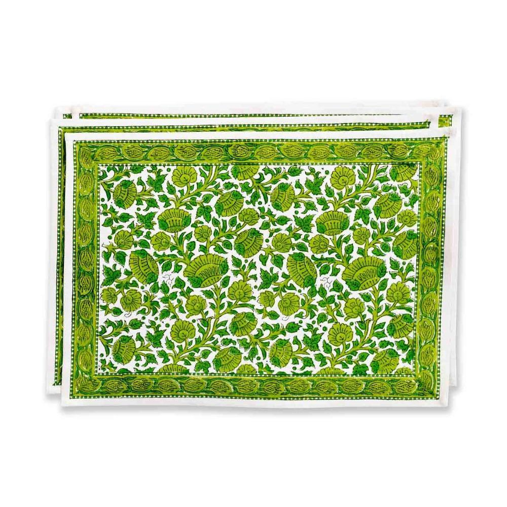 Stunning new Green blossom place mats (set of 4)