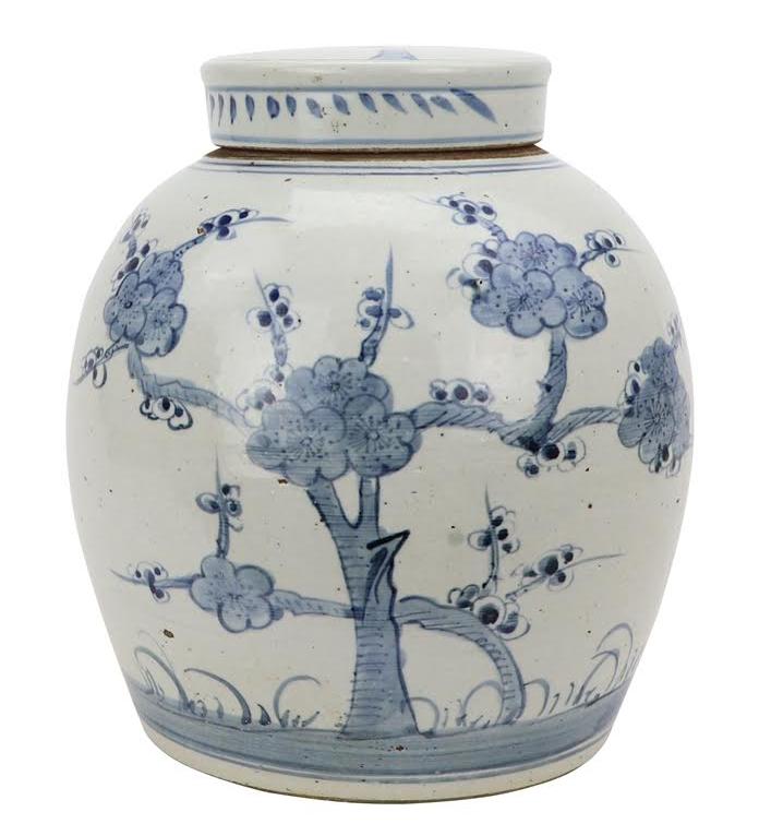 Fabulous cherry blossom flat top jar
