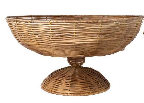 Gorgeous wicker large centerpiece bowl