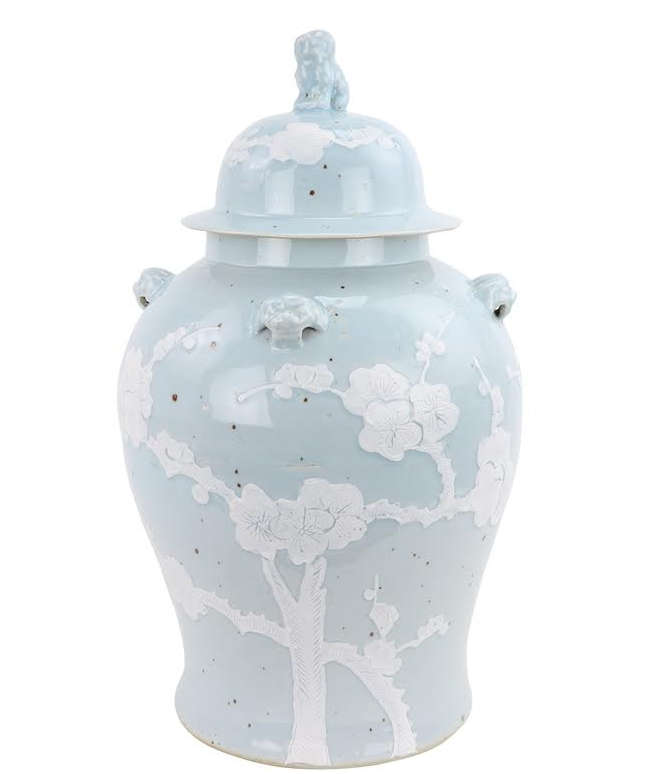 Incredible new pastel ginger jar in pale blue