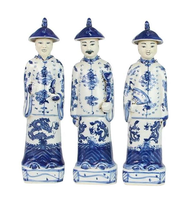 Set of 3 medium smiling emperors