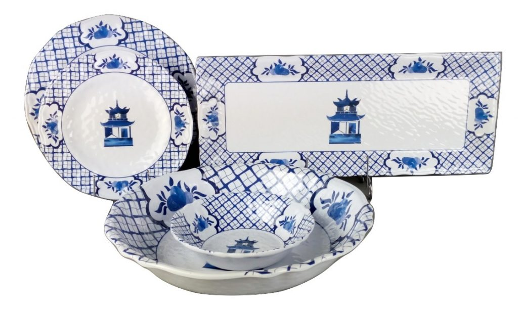view larger  sc 1 st  The Enchanted Home & Fabulous chinoiserie blue and white melamine dinnerware (Starting at ...
