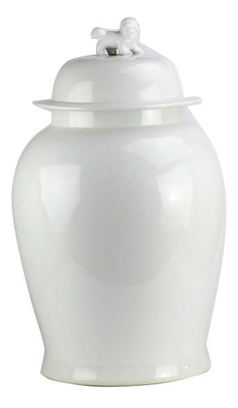 Fabulous extra large chunky white crackled jar