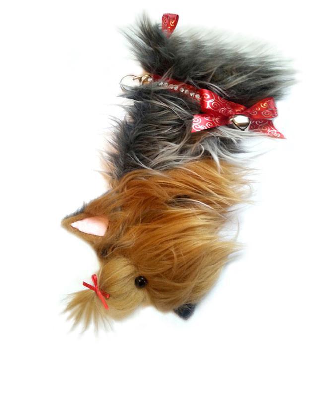 Yorkshire Terrier shaped dog holiday stocking