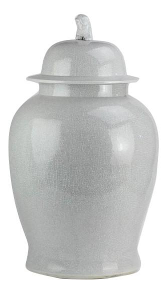 Fabulous extra large chunky gray crackled jar