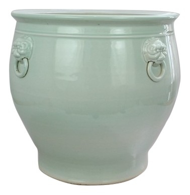 Large Celadon Fishbowl