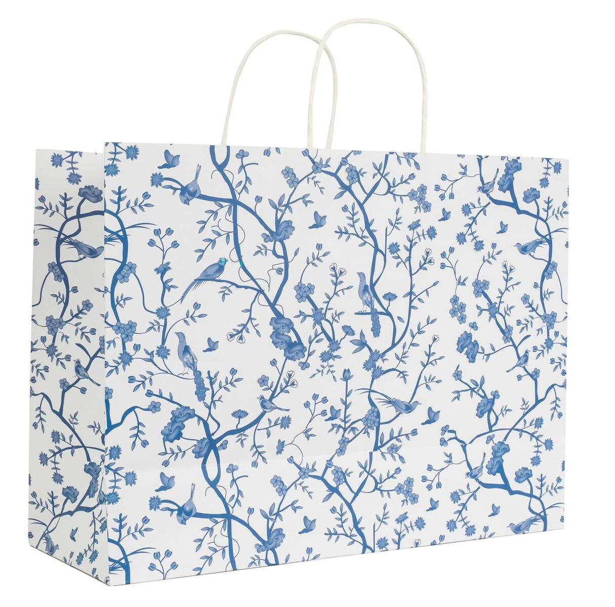 Chinoiserie White and Blue Gift Bag