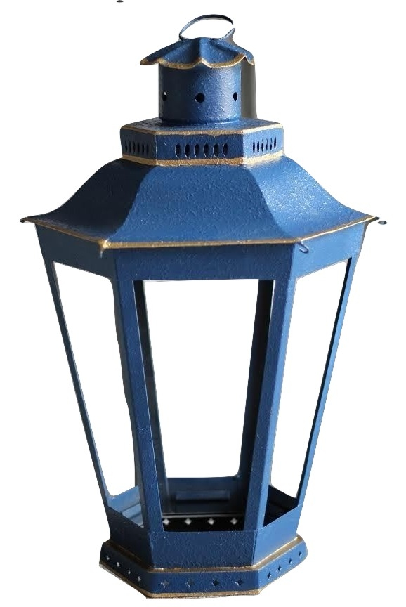 Incredible mid sized navy/gold lantern