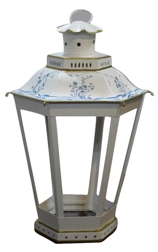 Incredible mid sized ivory/blue lantern