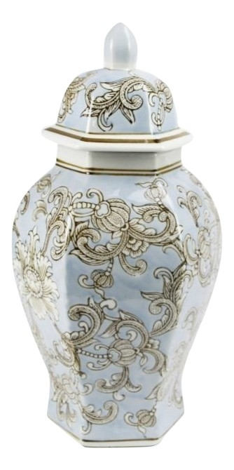 Wonderful new hexagon pale blue ginger jar