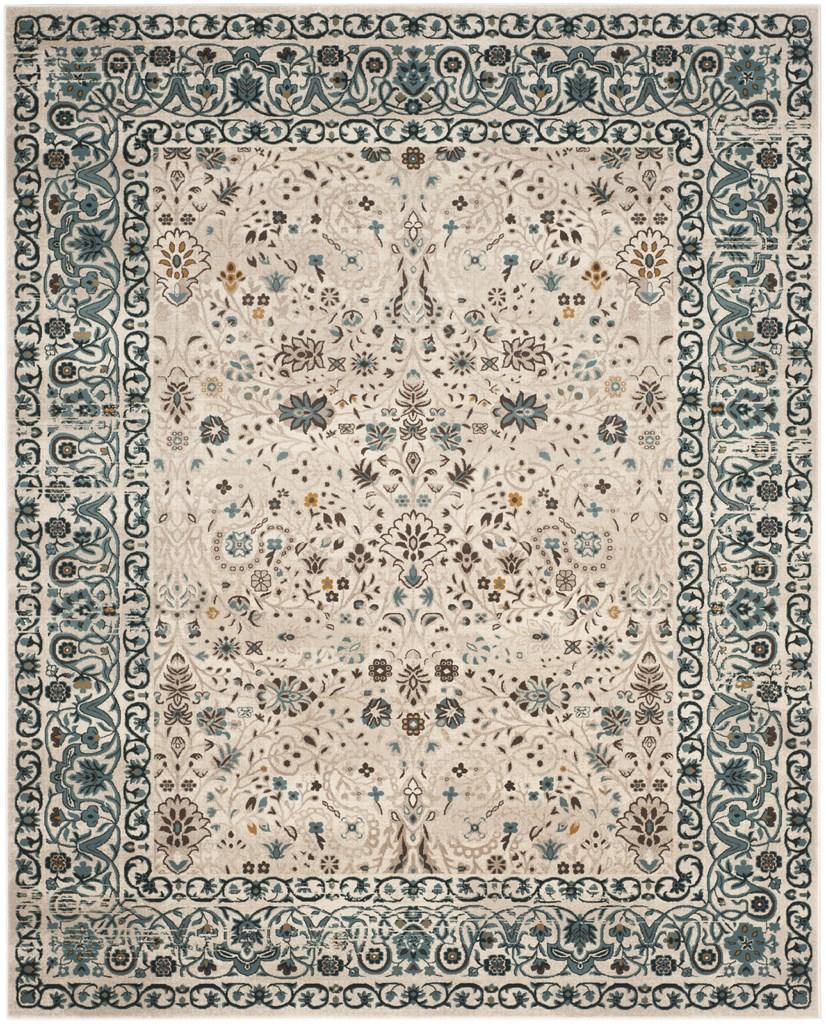 Beautiful blue/tan classic design rug