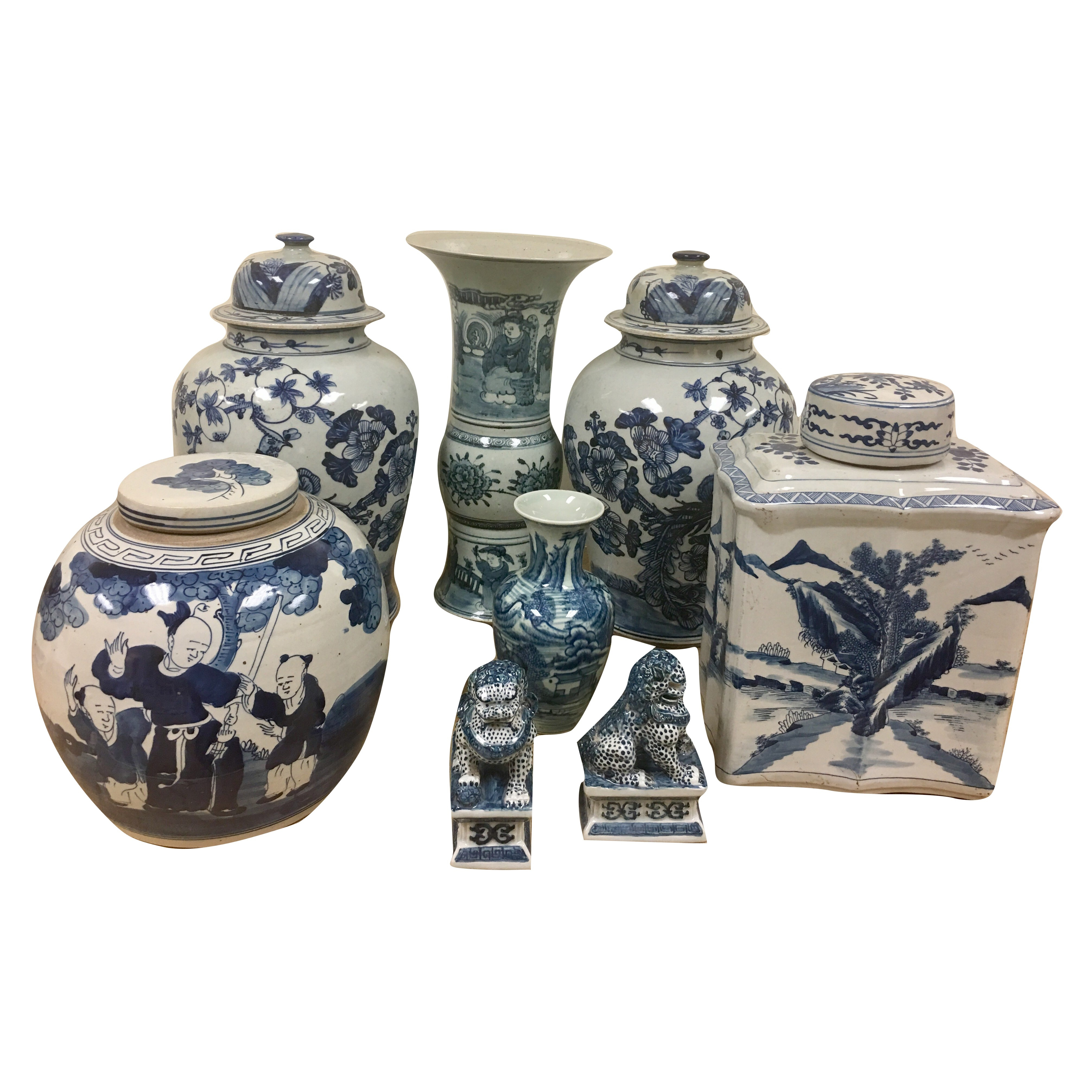 Fabulous beginners set of blue and white #4