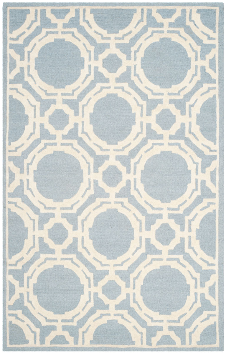 Gorgeous pale blue/ivory geometric/trellis rug
