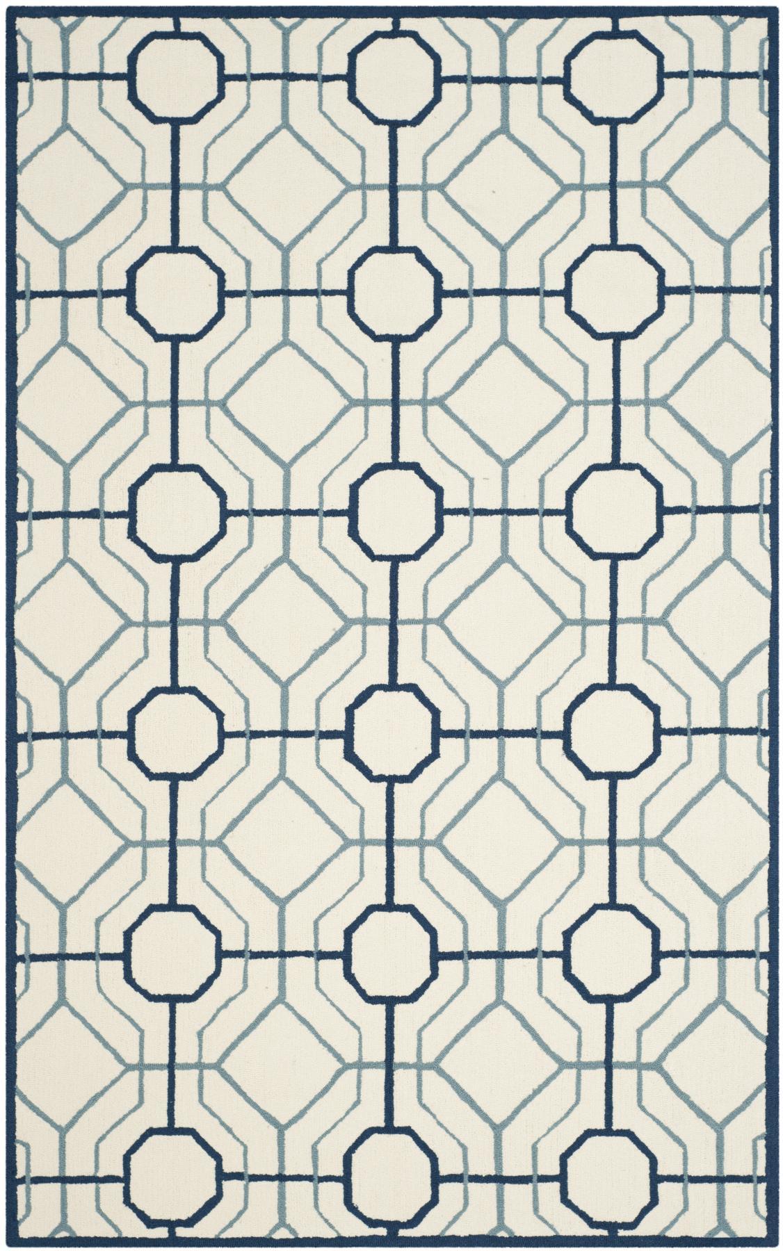 Fabulous trellis navy/white rug