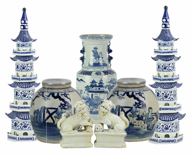 NEW! Incredible 9 piece beginners set of blue and white porcelain #7