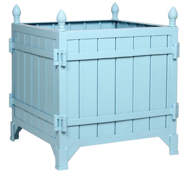 NEW! Incredible new style Mayflower Blue Provence planter in paneled style