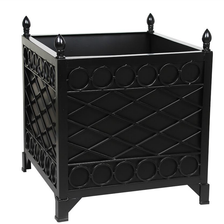 NEW!  BLACK TRELLIS/CIRCLE PROVENCE PLANTER