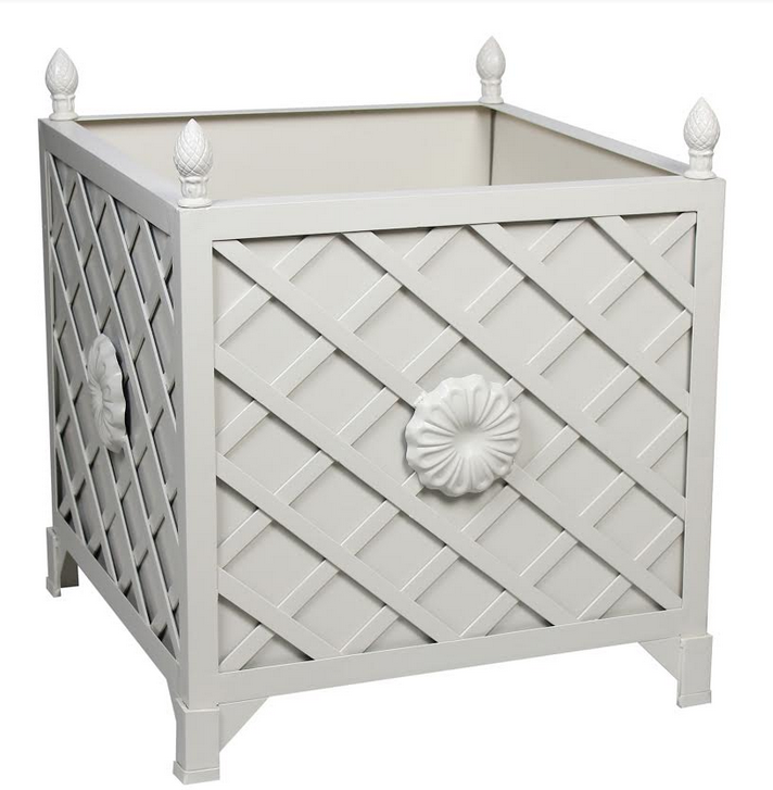 NEW!  LIGHT TAUPE TRELLIS/FLORA PROVENCE PLANTER