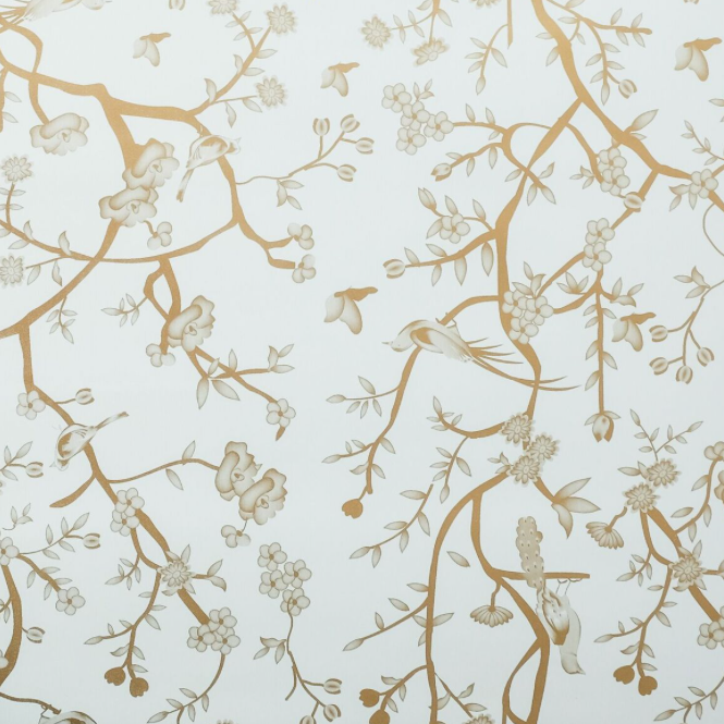 Pale Green with Gold Chinoiserie