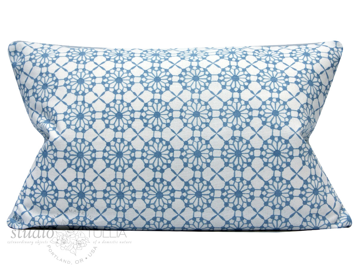 NEW! Incredible all over handblocked print Candida lumbar pillow