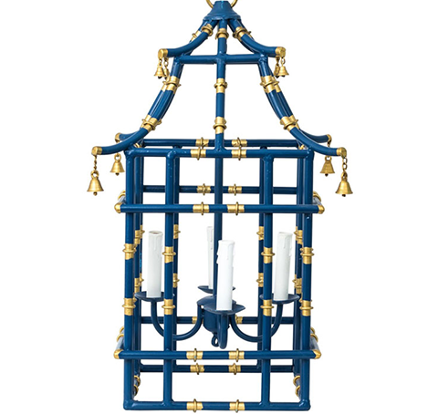 Navy with gold bamboo lantern (2 sizes)