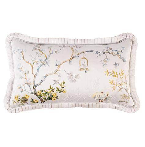 Chinoiserie Handpainted Pillows Lumbars