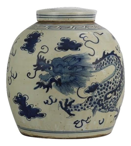 Dragon Mid Sized Flat Top Jar