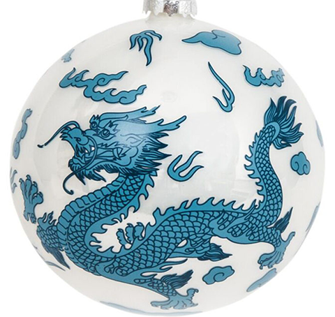 Large Dragon 5 Inch Ball Ornament