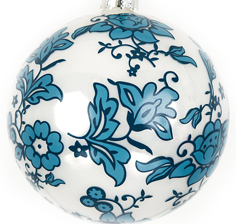 Wonderful All Over Floral Design Ornament 5 Inch