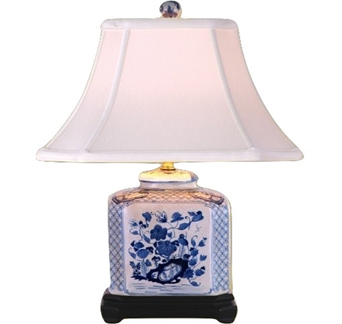 Small Blue And White Table Lamp