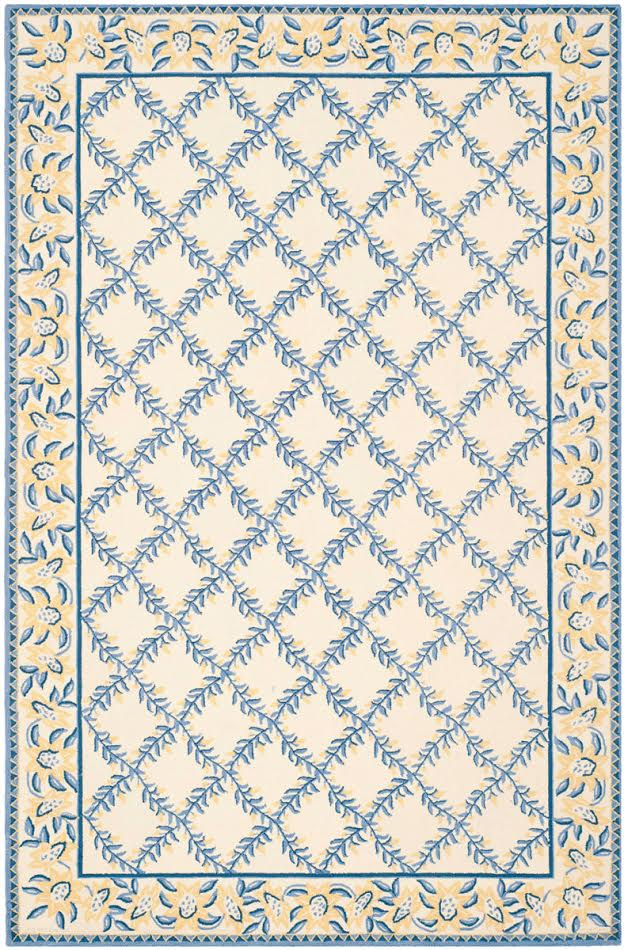 YELLOW/BLUE TRELLIS AREA RUG
